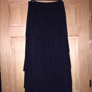 Junee black layered ruffle skirt XL